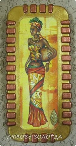 Эту африканочку  я дарю Вам, дорогие жители страны! Мне кажется, что наша жизнь здесь такая же яркая и насыщенная, как это панно...