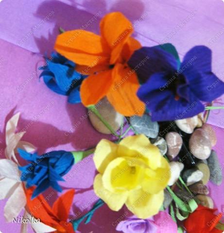 Начало моей дипломной работы по композиции. Все началось с этих цветов, некоторые идеи нашла на сайте, а вот ромашки сама придумала как сделать. фото 3