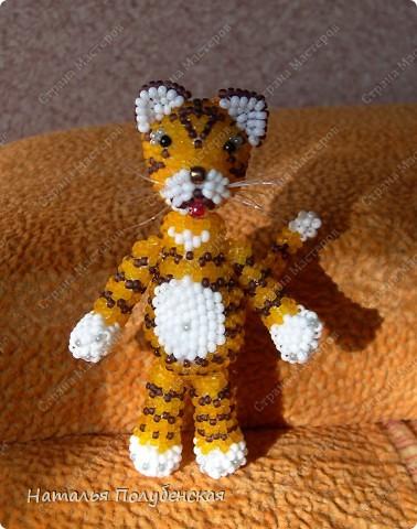 Тигрята из бисера (6 штук) фото 1