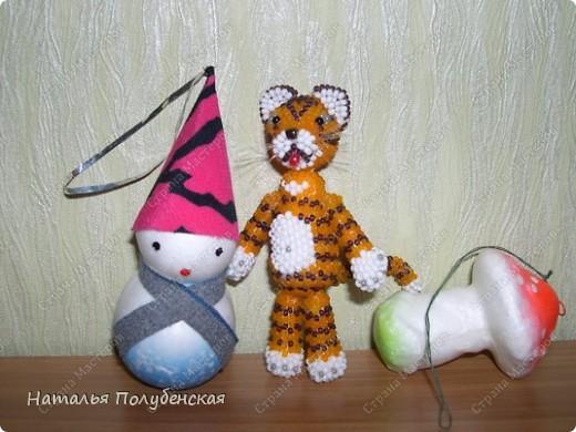 Тигрята из бисера (6 штук) фото 2