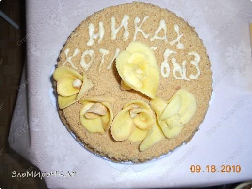 моя бабушка сделала тортик на НИКАХ (если кто не знает это татарская свадьба) очень вкусный получился, все ели с удовольствием)))