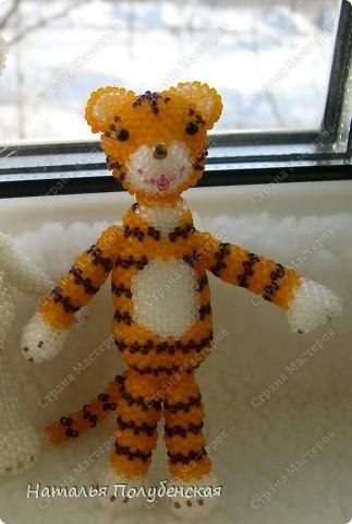 Тигрята из бисера (6 штук) фото 5