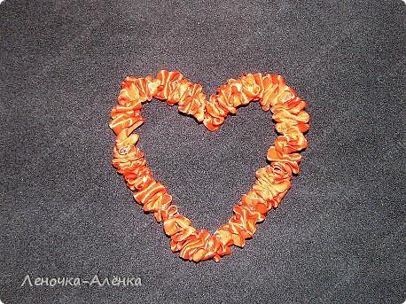 МК сердца из  атласной ленты фото 8