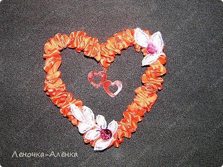 МК сердца из  атласной ленты фото 9