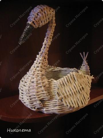 """Посмотрела различных птичек в """"Стране Мастеров"""" и решила сделать свою лебёдушку. Корявенько ещё конечно, надеюсь дальше будет получаться получше. фото 2"""