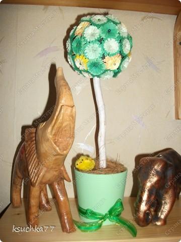 Мое любимое деревце ))) Цветы выполнены в технике квиллинг. фото 2