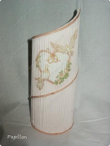 Подставку сделала в подарок ко дню бракосочетания. Идею взяла с сайта http://by-hand.ru/item/view/6307.  фото 7