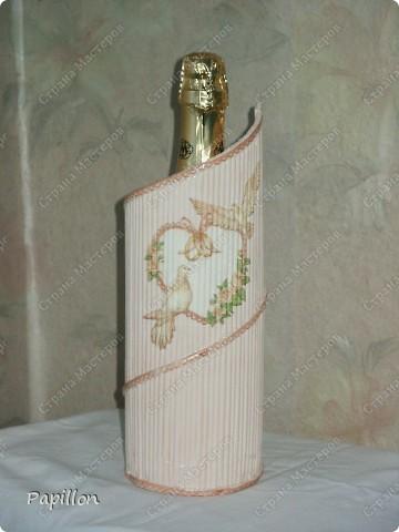 Подставку сделала в подарок ко дню бракосочетания. Идею взяла с сайта http://by-hand.ru/item/view/6307.  фото 8