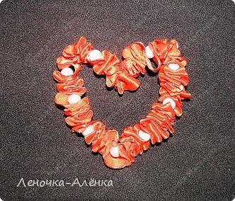 МК сердца из  атласной ленты фото 10