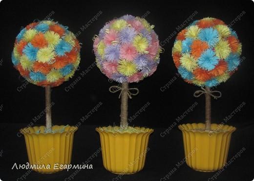 Насмотревшись на многообразие деревьев и цветочных шаров в Стране Мастеров, тоже решила подарить себе и окружающим кусочек счастья. Вот, что получилось. фото 1
