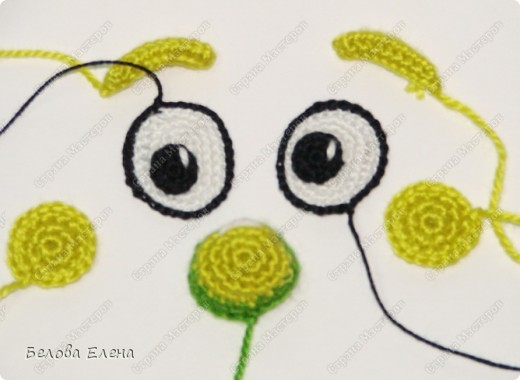 Игрушка Мастер-класс Вязание крючком Сверчок из м/ф Пиноккио Картон Проволока Пряжа фото 7