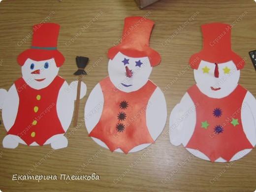 наши работы на уроке труда, 3 класс. Коты и снеговики. фото 5