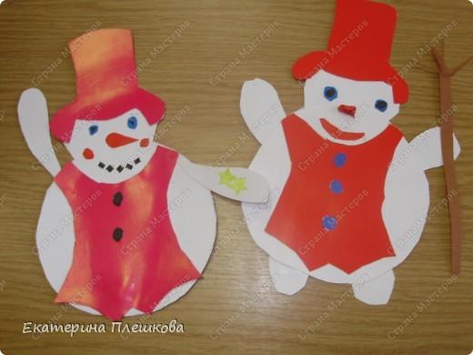 наши работы на уроке труда, 3 класс. Коты и снеговики. фото 6