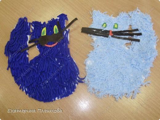 наши работы на уроке труда, 3 класс. Коты и снеговики. фото 4