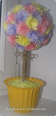 Насмотревшись на многообразие деревьев и цветочных шаров в Стране Мастеров, тоже решила подарить себе и окружающим кусочек счастья. Вот, что получилось. фото 4