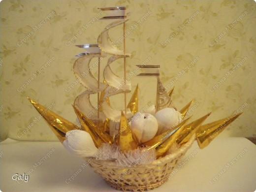 Вот и мой вариант сладкого корабля фото 1