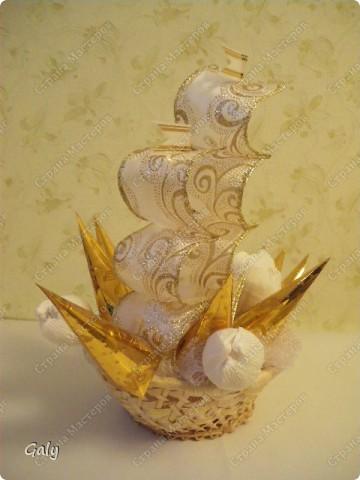 Вот и мой вариант сладкого корабля фото 2