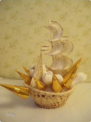 Вот и мой вариант сладкого корабля фото 3