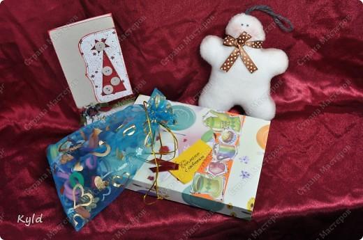 Ну вот я дождалась последнюю посылку и теперь могу показать вам подарки, которыми порадовали меня мои дорогие подружки-мастерицы. Это подарочек от Наташеньки- Вдохновленной, вы конечно не могли не узнать руку мастера!!! фото 21