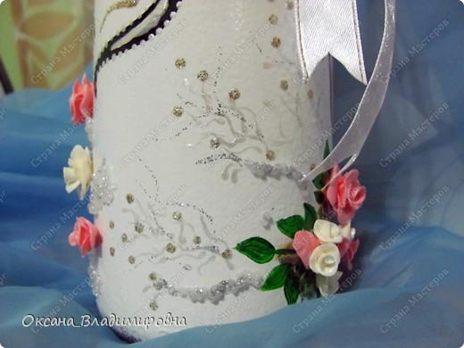 Спасибо, обменному пункту, выменяла такую красоту ))) Первая работа на свадьбу.  фото 4