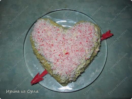 """На день рождения своей мамочки я приготовила такой салатик """"Черный жемчуг"""" в виде сердечка, в знак бесконечной моей любви к ней.  фото 1"""