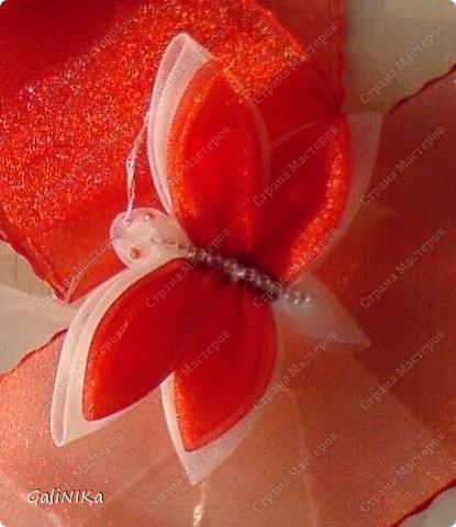Это моя первая бабочка, сделанная в технике Канзаши фото 2
