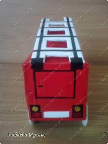 Макет пожарной машины фото 5