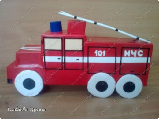 Макет пожарной машины фото 3