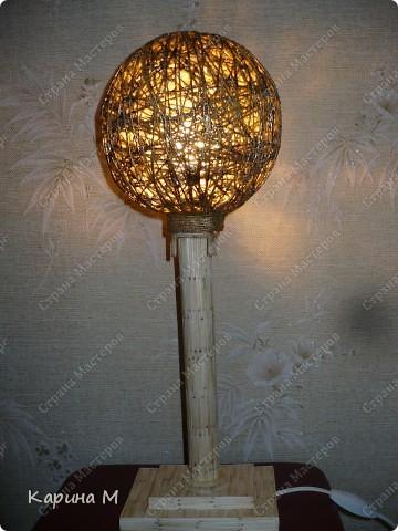 Вот такой светильник сделал мой муж))) фото 1
