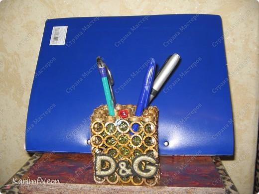 D&G - ДЁШЕВО И ГЕНИАЛЬНО!!!!!!!!!!!!!!!!!!!! Подруга попросила сделать ей на работу карандашницу с подставкой для папок. Вот, что у меня получилось. фото 4