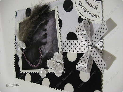 черно белые открытки: