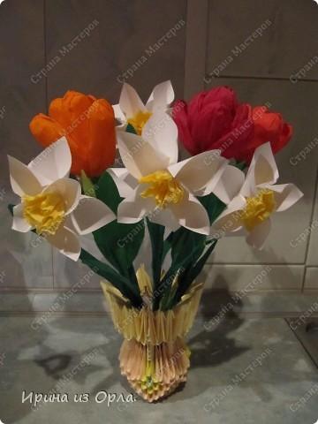 В детском садике дали задание - смастерить вместе с детьми какой-нибудь весенний подарок ко дню 8 марта.   фото 5