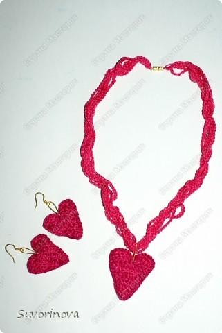 вязаное украшение фото 1
