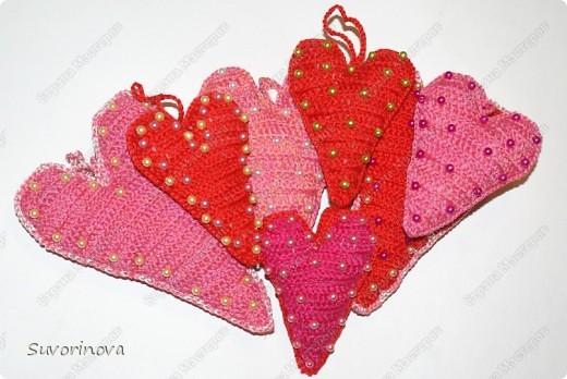 Валентинки вязаные  фото 2