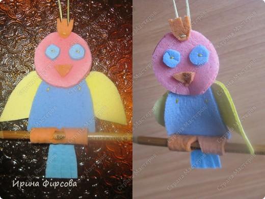 Держатель для карандашей. Слева на фото  салфетки ещё влажные, справа на следующий день - салфетки высохли, карандаш легко снимается и вдевается. фото 1