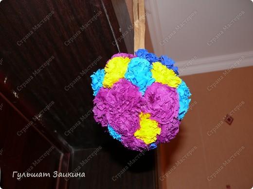 Шарик из цветов фото 2