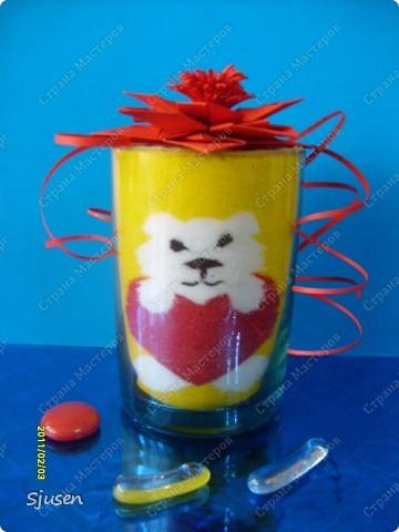 Вот такой сувенирчик-валентинка из соли)) фото 3