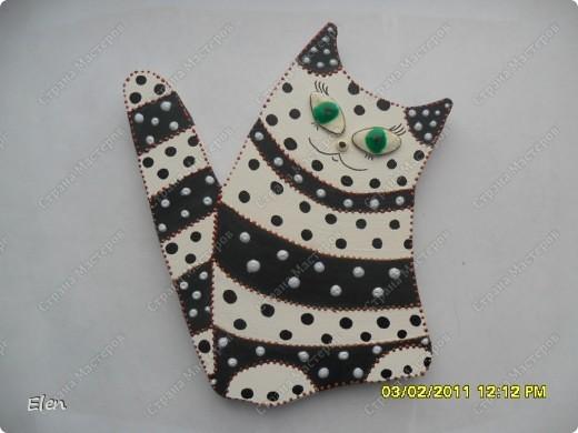 кошки из гипса,росписаны акриловыми и витражными красками фото 3