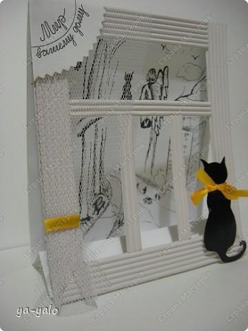 Почему кошки так любят сидеть на окне? Почему так пристально вглядываются в даль? Что видят там они? Может быть, то, что не дано видеть нам, людям?  фото 2