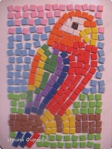 Морской конёк. Не хватило красных квадратиков - думаю либо из бумаги сделать, либо из поделочной резины (только где она продаётся, пока не встречала...) фото 2