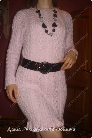 Мое вязаное платье. Пряжа тонкий мохер,спицы №3.