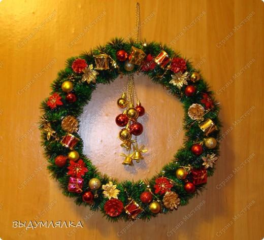 Рождественский веночек на дверь