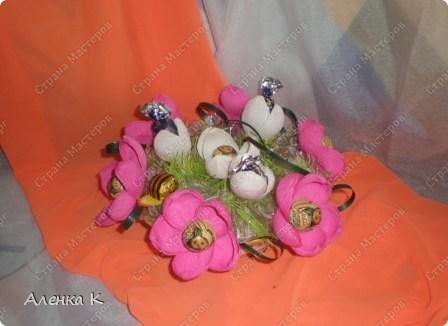Свит-дизайн 8 марта Первоцветы Бумага гофрированная.