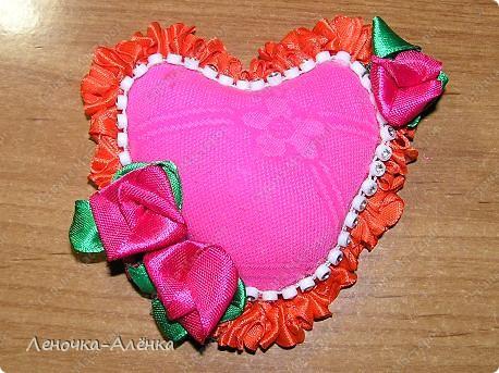 Валентинка - игольница фото 2