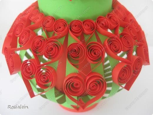 Вазочка для бумажных цветов. Цветы в процессе...:)) фото 3