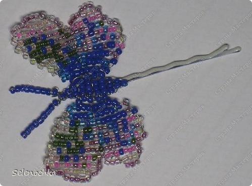 Бабочки из бисера фото 4