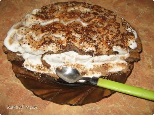"""Не знаю почему, Торт называется """"Трухлявый Пень"""". :)))) Захотелось сладкого, а этот торт самый простой.  Я чувствую, прибавлю кучу киллограмм пока в отпуске. :))))))))) фото 1"""