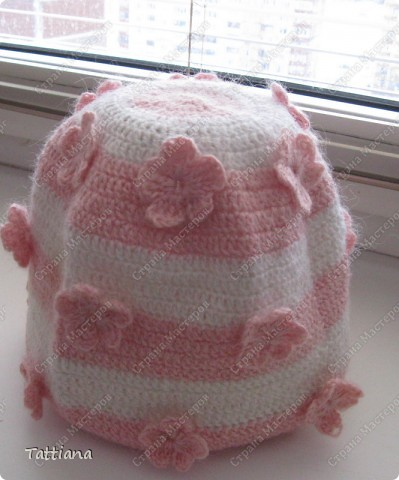 Вот связала для внучки шапочку - у нас опять возвратилась ЗИМА.  Спасибо Ирине - Голубке за МК. фото 2