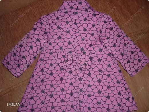 1. Плащ. Из этой ткани сначала планировала сшить костюмчик на весну-осень.В итоге получился вот такой плащ на подкладке. фото 2