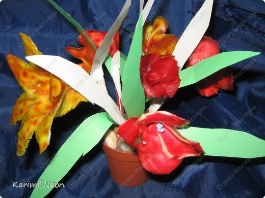 МОЁ ИЗОБРЕТЕНИЕ. Цветы из клея ПВА. 16 февраля 2011 года.  фото 10